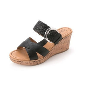 B.O.C by BORN | Black Wedge Sandals size 9